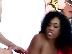 2 Black Girls Share One White Cock