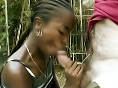 Young Black Hooker Takes Old Big Cock