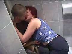 Mom and Son 039 s friend having sex in toilet