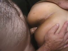Pregnant Latin Slut Paid By Two Studs