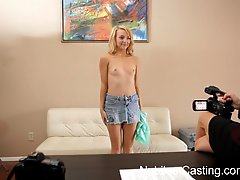 Nubiles Casting Cute Blonde Gets Her First Shot At Porn