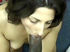 Asian Pakistani Brunette Sucks Big Black Dravidian Dick