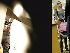 Spying Under Changing Room Doors