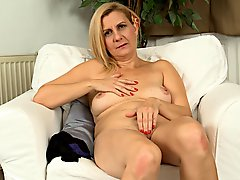Mature Lady Masturbates Slowly