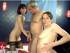 German Teens And Milfs At Gang Bang Party