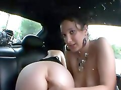 Girls In Car Exhibition At Paris!! French Amateur