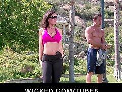 Bigtit Brunette Cougar Rides Her Yoga Instructor S Hard Cock
