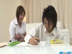 Naughty&nbsp Hiyoko Morinaga Uses Her Tits To Stroke The Cock