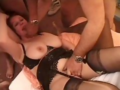 French Milf Play With Several Mens