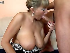 Young Son Fucks Busty Not His Mom
