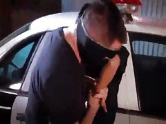 Female Officer Protects And Serves Cock