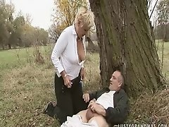 Handjob granny