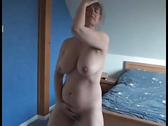 Hairy French Milf Rubs Her Pussy To Orgasm