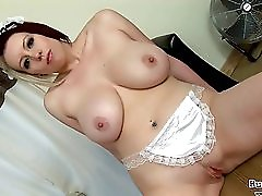 Busty Maid Lilly Pink Shows Her Skills