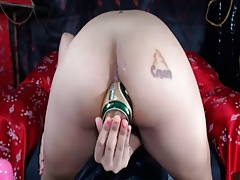 Asian Amateur Bottle And Fisting