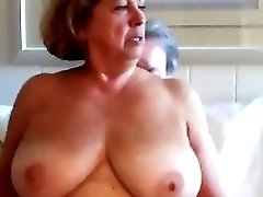 Mature Woman Rides Husbands Cock