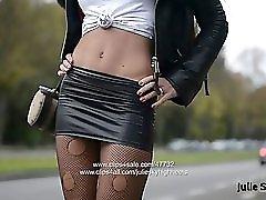 Eternal Hooker In Extreme 20cm High Heels & Spandex Skirt