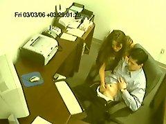 Caught! Office Handjob