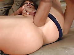 Brunette Gets A Thick Cock Up Her Ass