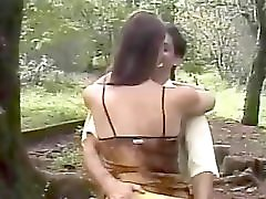 Kissing The Tranny Outdoors